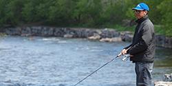Fishing on Lake Ontario