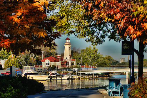 Port Credit Harbour and the Credit River